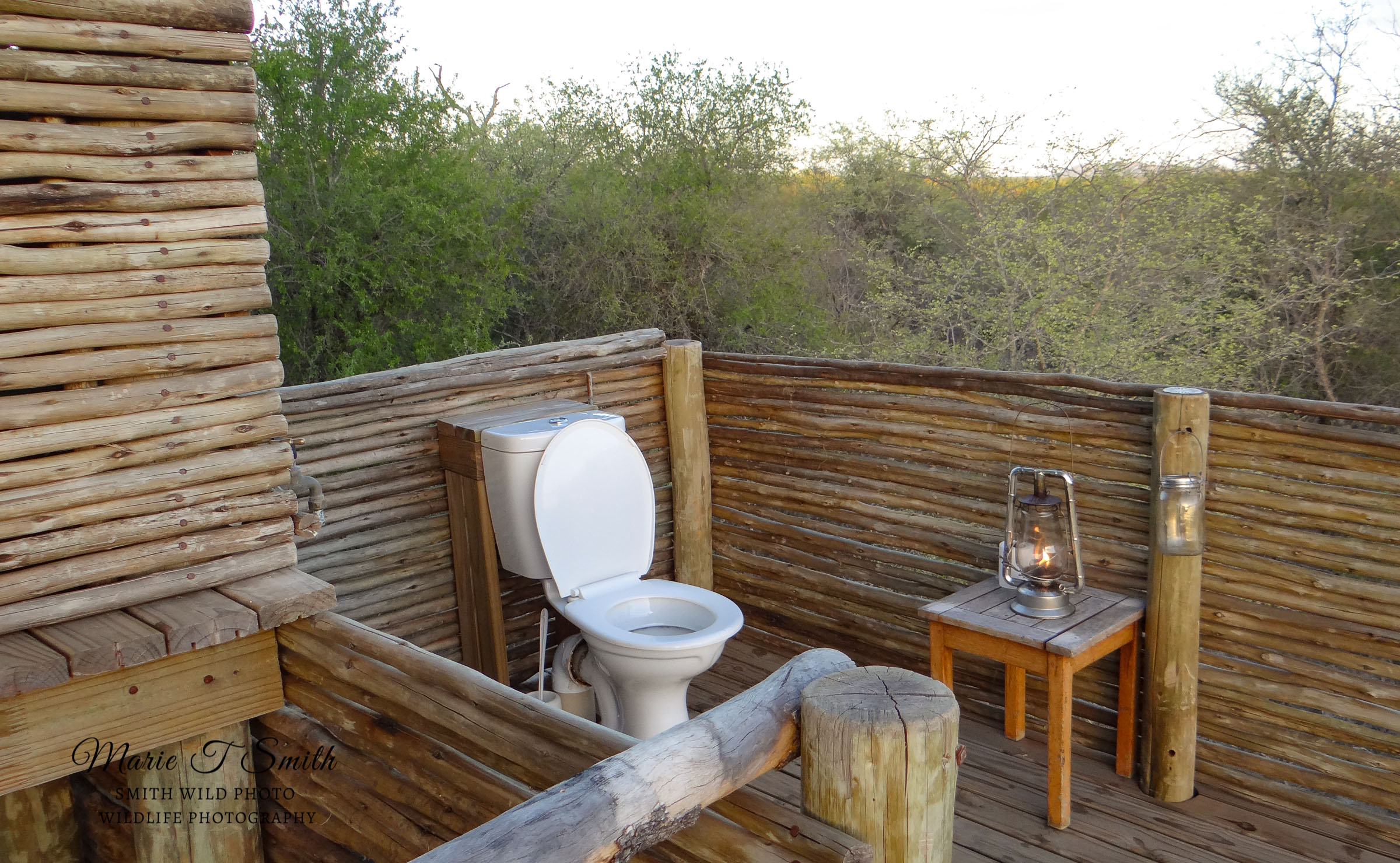 Toilet on a decking