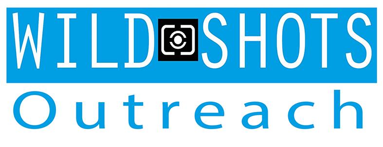 Wild Shots Outreach logo blue on white background